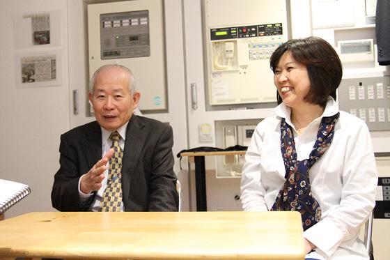 淡路人形協会理事長と木田さん
