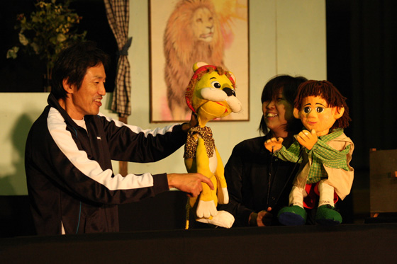 人形劇団わややんの練習風景