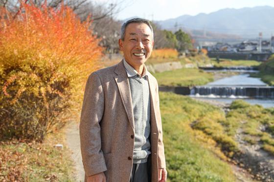 山口町自治会連合会顧問三谷さん