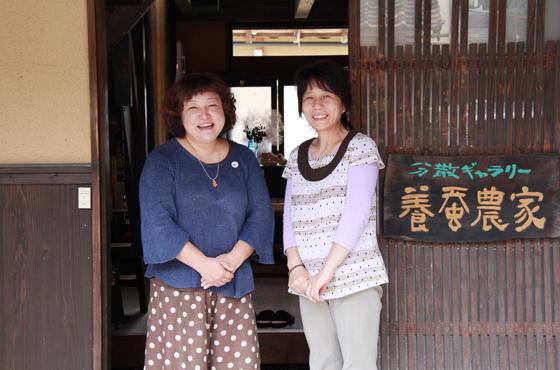 写真:田中さんと河邊さん