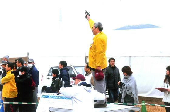 写真:加古川マラソンスタートの様子