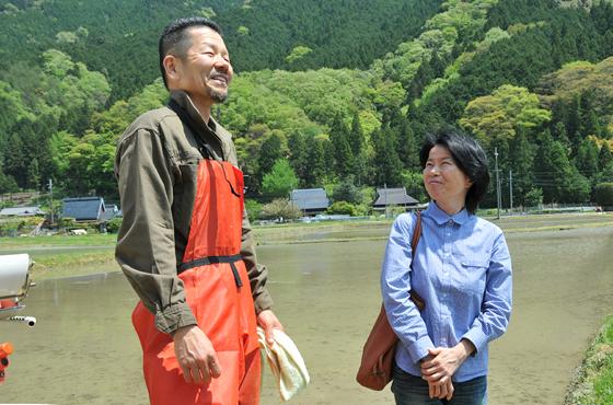 古民家体験を繰り返し、稲作オーナーとして神楽に通う明石市在住の池藤さん夫妻