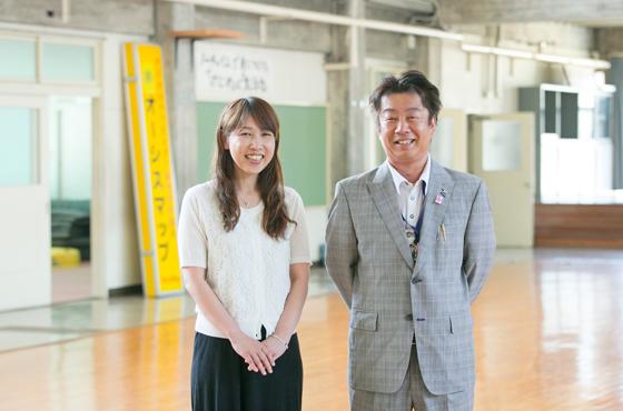 オーシスマップ社長大林賢一さんと野﨑さん