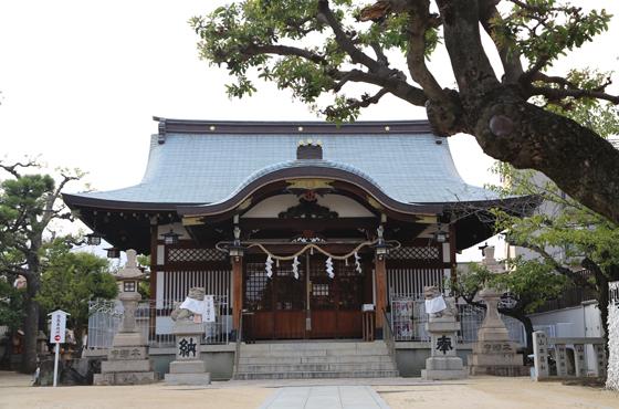 阪神打出駅近くの打出神社。河口さんの「心が癒されるスポット」
