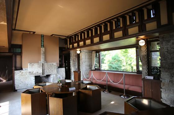 フランク・ロイド・ライト設計のヨドコウ迎賓館。国の重要文化財に指定された。