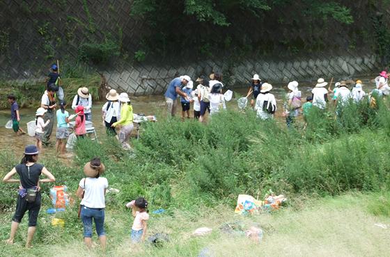 7月27日 アシレンジャー「芦屋川上流での生き物観察会」