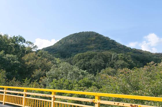 かぶと形の山が象徴的な県立甲山森林公園。森林浴はもちろんハイキングコースや健康遊具で体力作りも。