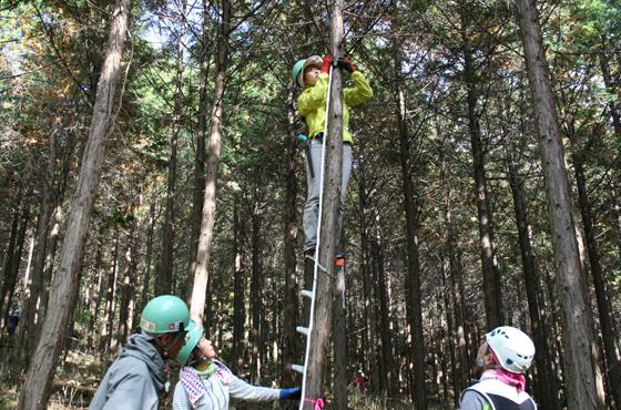 ボランティア講座に京都から参加した、環境学園専門学校に通う山本佳奈さん