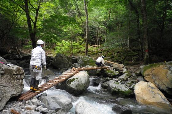 宍粟市の赤西渓谷「日本触媒・水源の森」