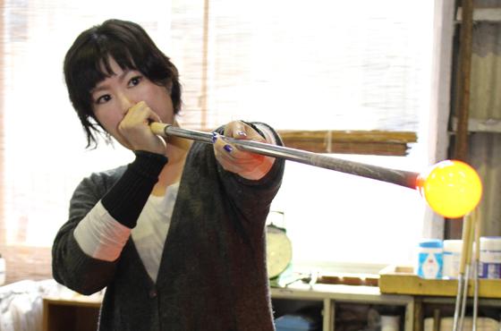 御崎ガラス舎オーナー オカモトヨシコさん