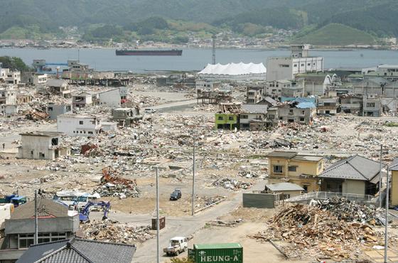 震災から3か月後の大船渡市