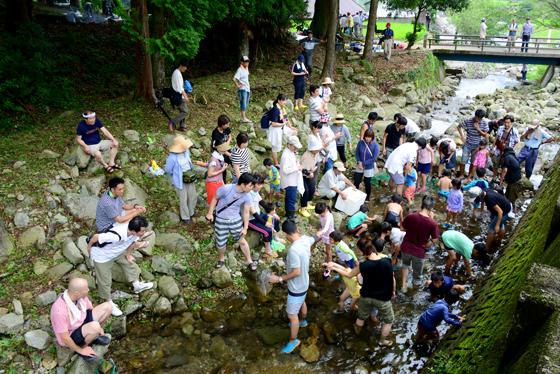 多くの子ども連れの家族が参加し、賑わう棚田オーナーのイベント
