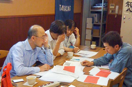神戸芸術工科大学の野口正孝教授との第1回松右衛門帆復活プロジェクト会議