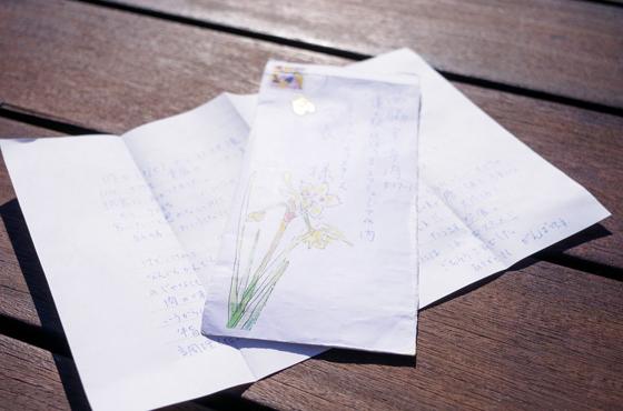 「いつもお守りとして大事に持っています」と大切にしているお客様からの直筆の手紙