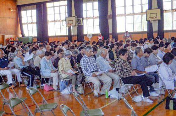 設立総会には300名以上の多くの住民が参加