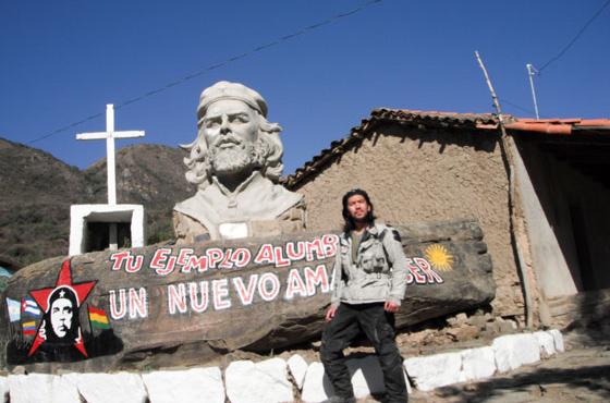 南米でバイクの旅を続けていたころの吉原さん