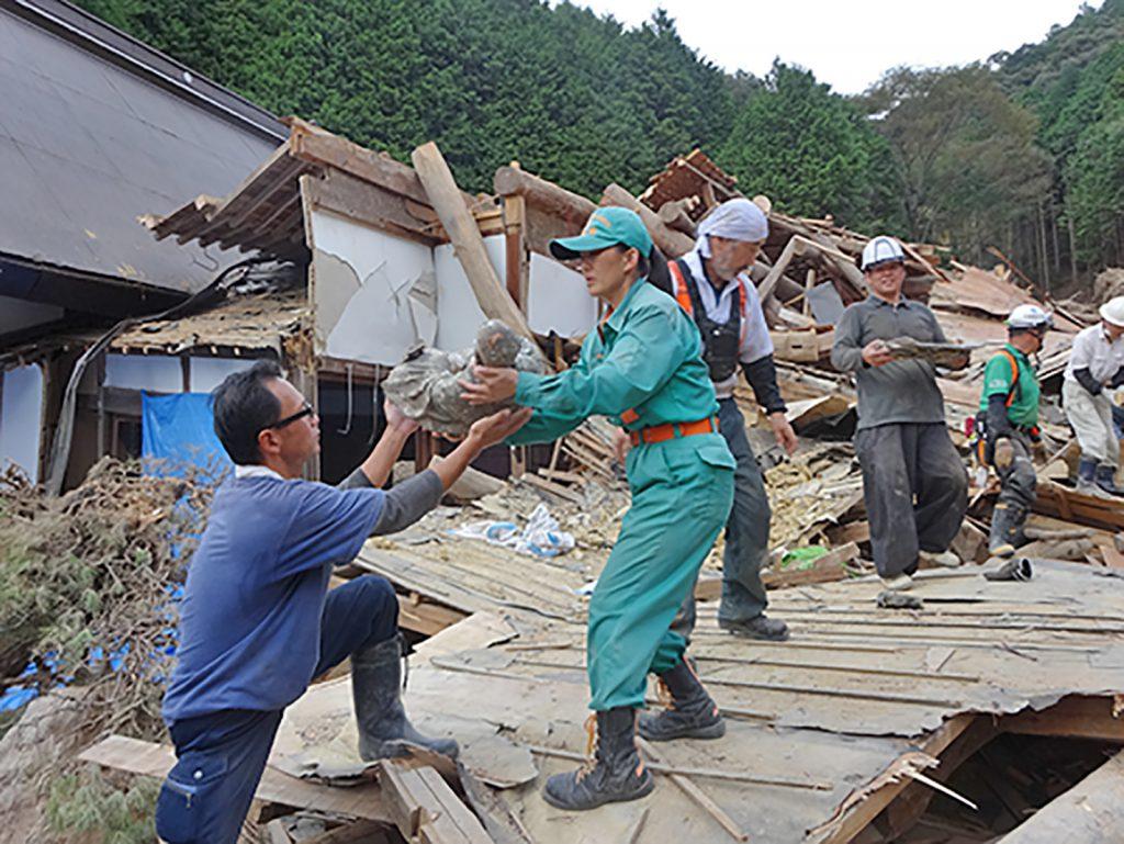 丹波市豪雨災害被災地での支援活動