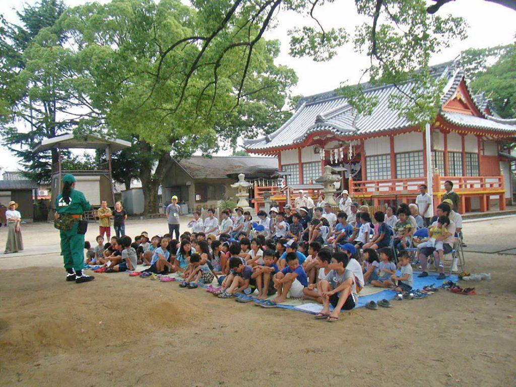 子供会のイベント行事に参加して防災の普及啓発を行う
