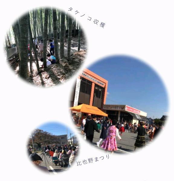 タケノコ収穫・比也野まつり