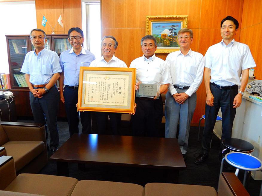 淡路県民局を訪問し、「第2回インフラメンテナンス大賞」農林水産大臣賞の受賞を報告