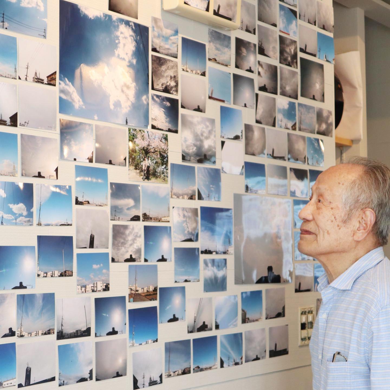 まごころ茶屋で開催した「空の写真展」