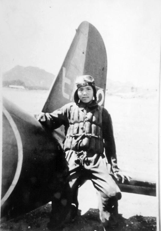 姫路海軍航空隊でパイロットを目指していた練習生